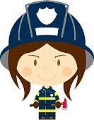 Dibujos animados:Chica de bombero.