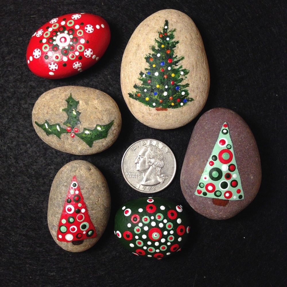 steine bemalen weihnachtsbaum  best style news and