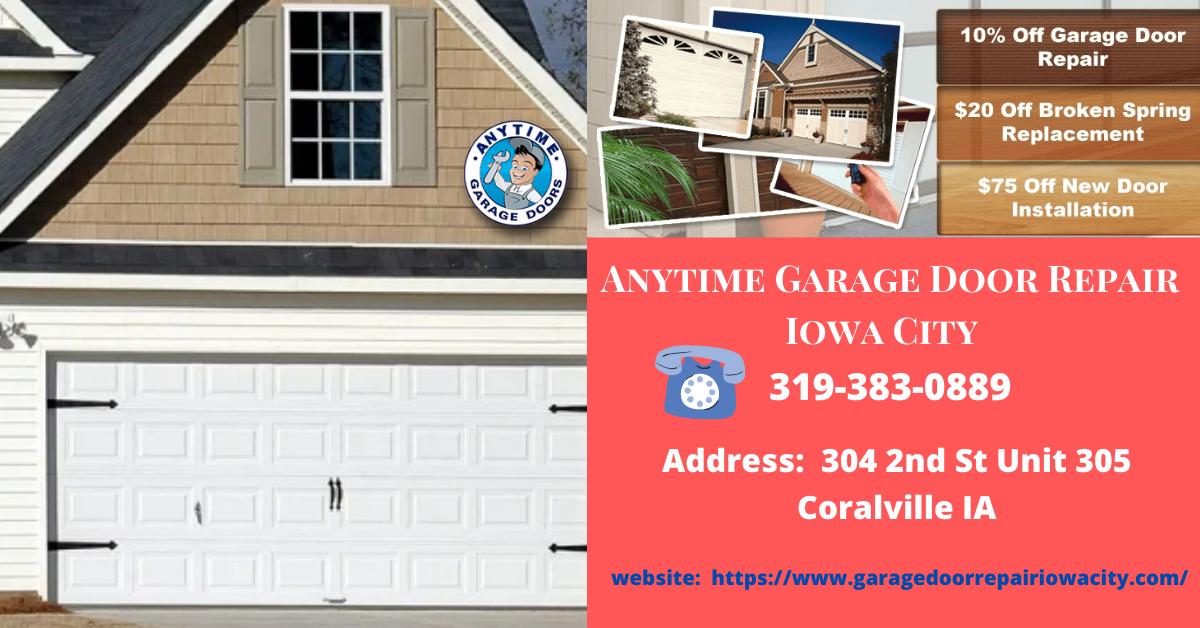 Residential Garage Door Repair Services Iowa City In 2020