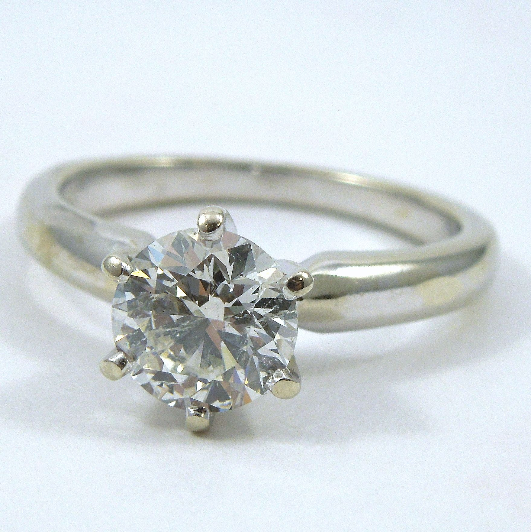 1 00 carat diamond engagement ring si2 clarity j color set in