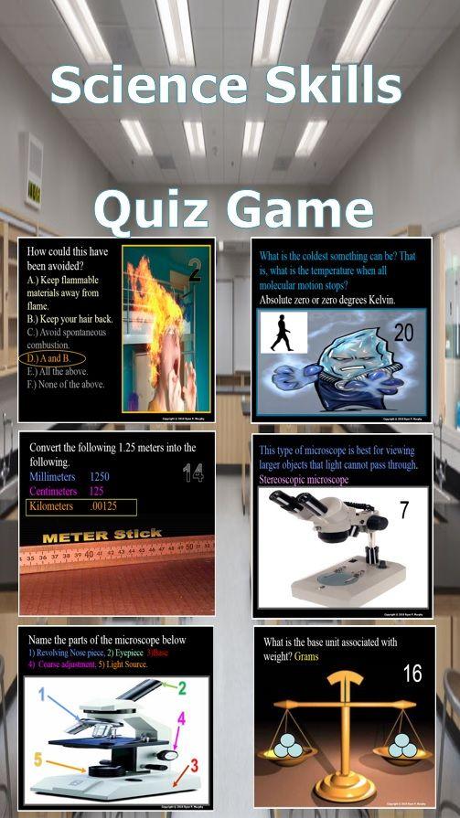 Science Skills Quiz Game | TpT Science Lessons | Science curriculum