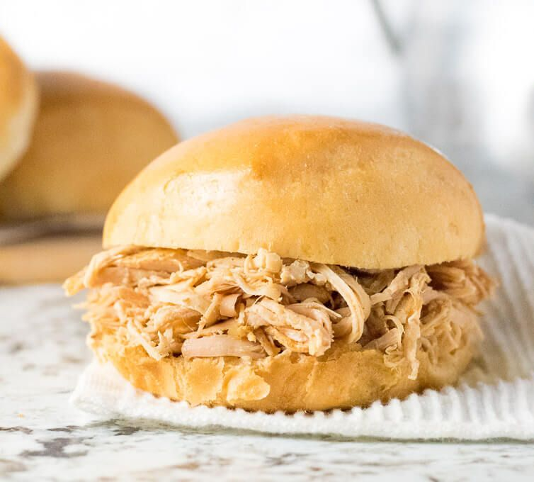 Photo of Slow Cooker Shredded Turkey Sandwiches