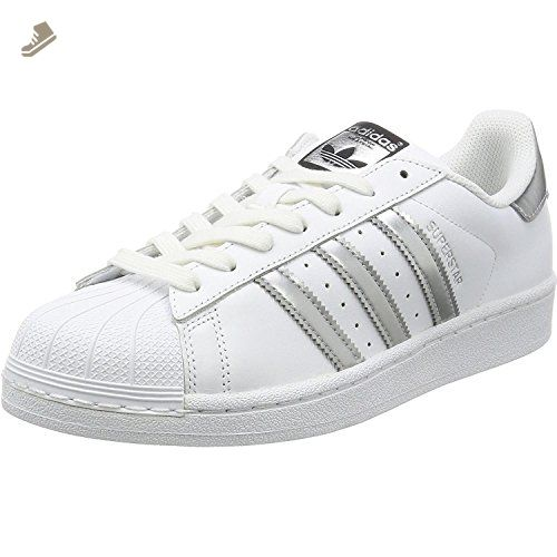 adidas Superstar Womens Trainers White Silver - 5 UK - Adidas sneakers for  women (*