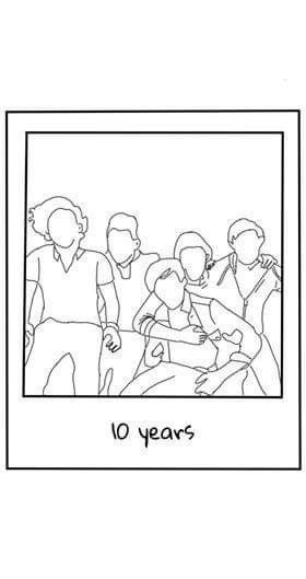 10 Years One Direction En 2020 Dibujos De One Direction Tatuajes De One Direction Diseño De Pegatina