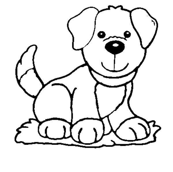 Dog Coloring Pages For Kids - Preschool and Kindergarten | Pinterest ...
