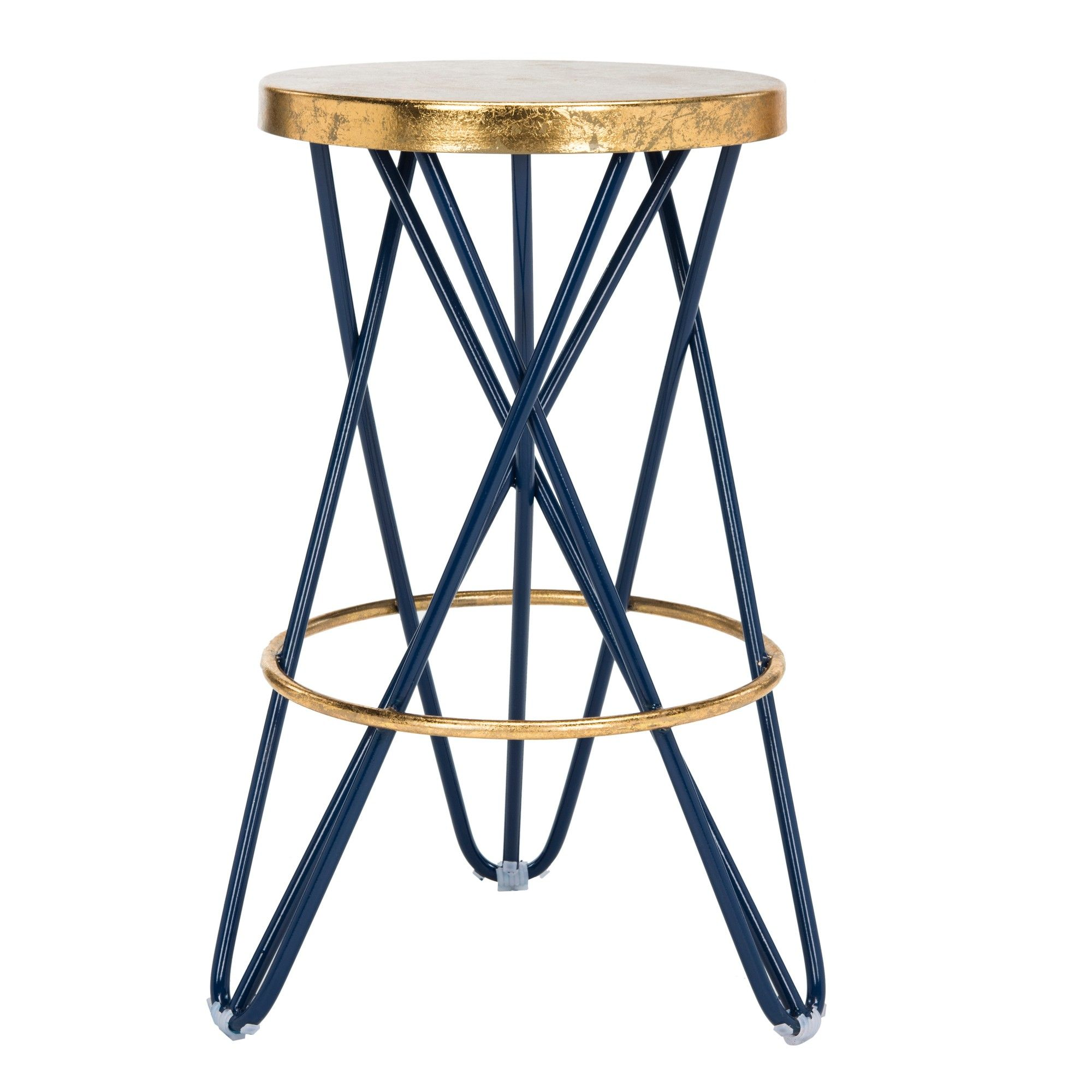 Tabourets Laval Counter And Bar Stools Navy Blue Gold Safavieh Products