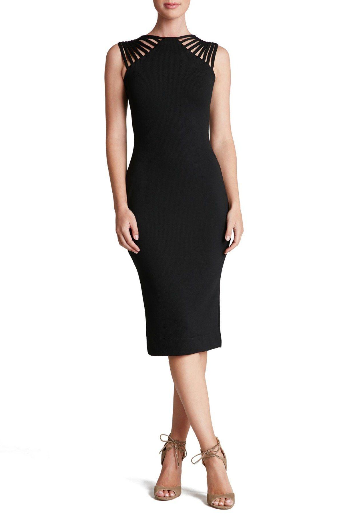 Dress the Population Womens Gwen Midi Dress Dress