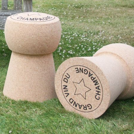 i would love these huge corks stools in our back yard