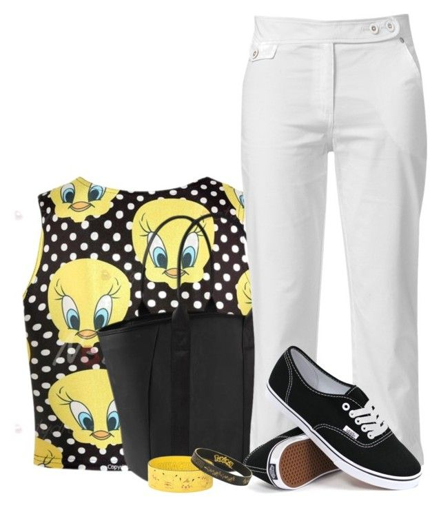 """""""Tweetie Bird"""" by flowerchild805 ❤ liked on Polyvore featuring Athleta, Raxevsky and Vans"""