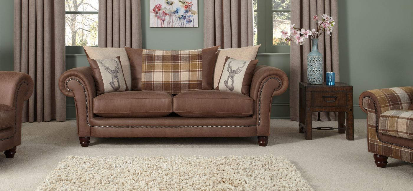 Modern Sectional Sofas Downton Seater Sofa Scatter Back