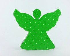 Caixa Anjinho - Verde Poá Branco