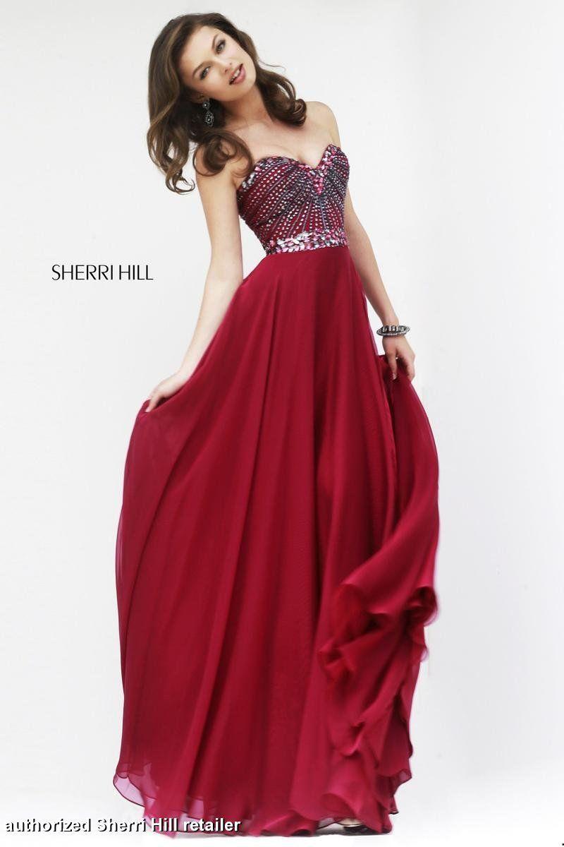 Ruby Sherri Hill 1937 Flowy Sweetheart Prom Dress on Sale