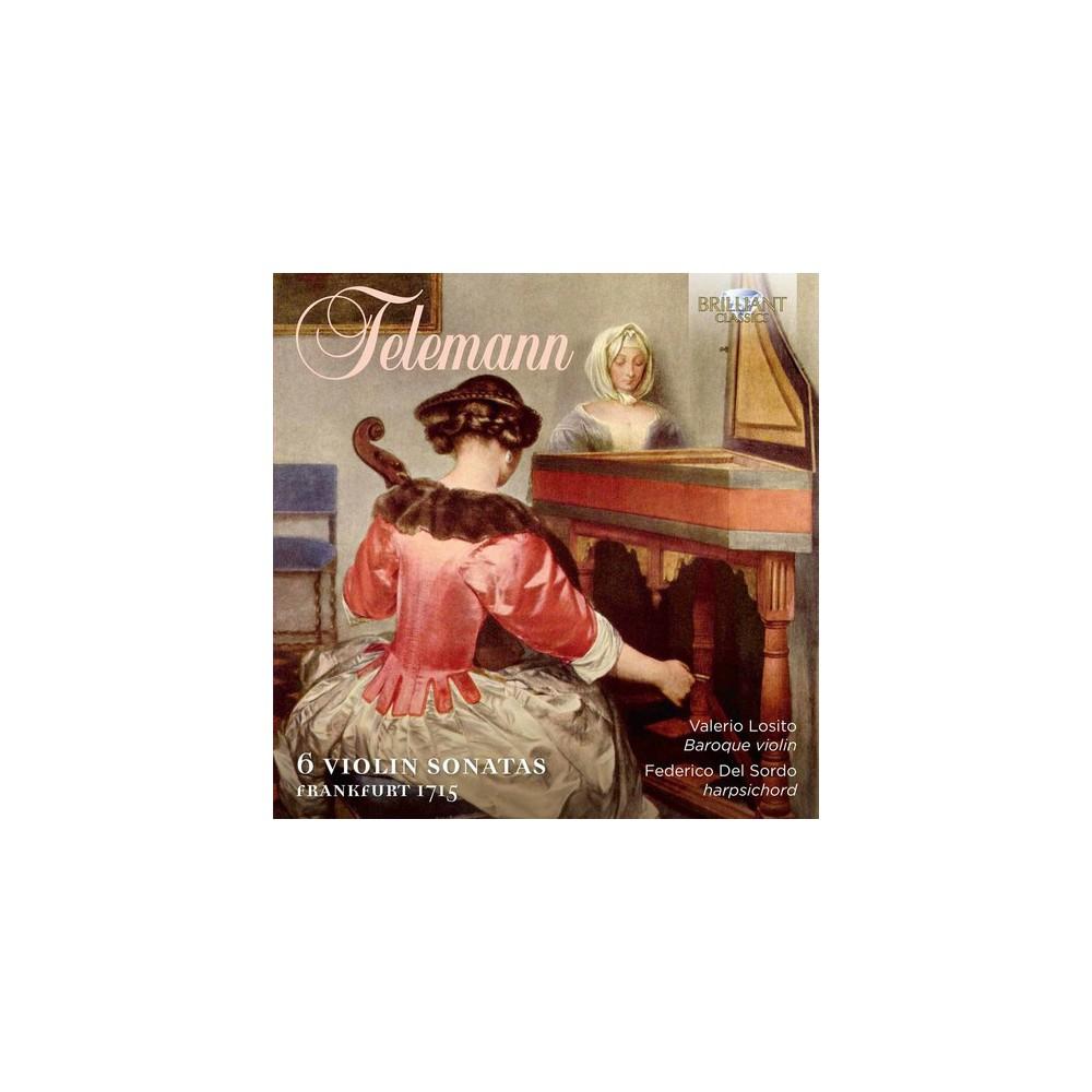 Telemann & Losito & Del Sordo - Georg Philipp Telemann: 6 Violin Sonatas Frankfurt (CD)