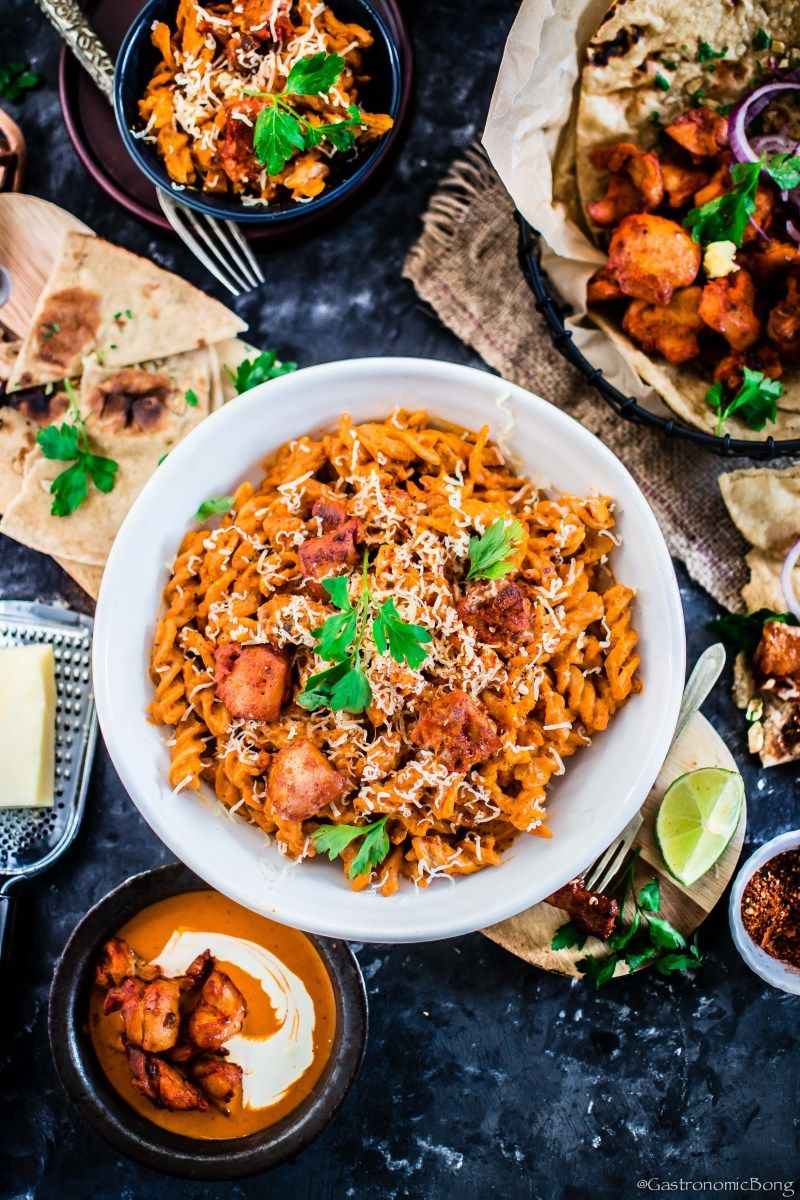 Indian butter chicken pasta in 2020 pasta recipes indian