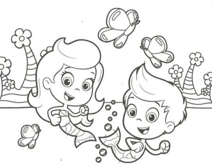 Free Bubble Guppies Molly And Gil Coloring Page To Print  Nick Jr