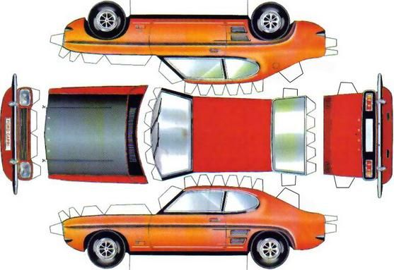 An Easy To Build Paper Model Of The 1969s Ford Capri Mk I By Schweiz Switzerland Website Description From Papermaublogspotmx