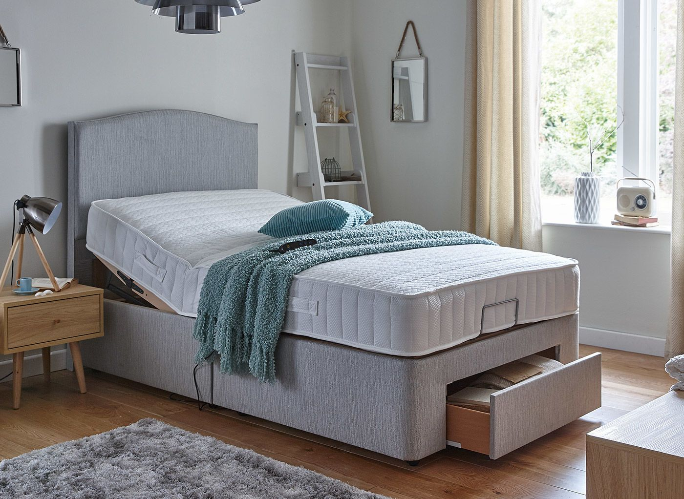 Danson Mattress With Standard Grey Adjustable Divan Bed