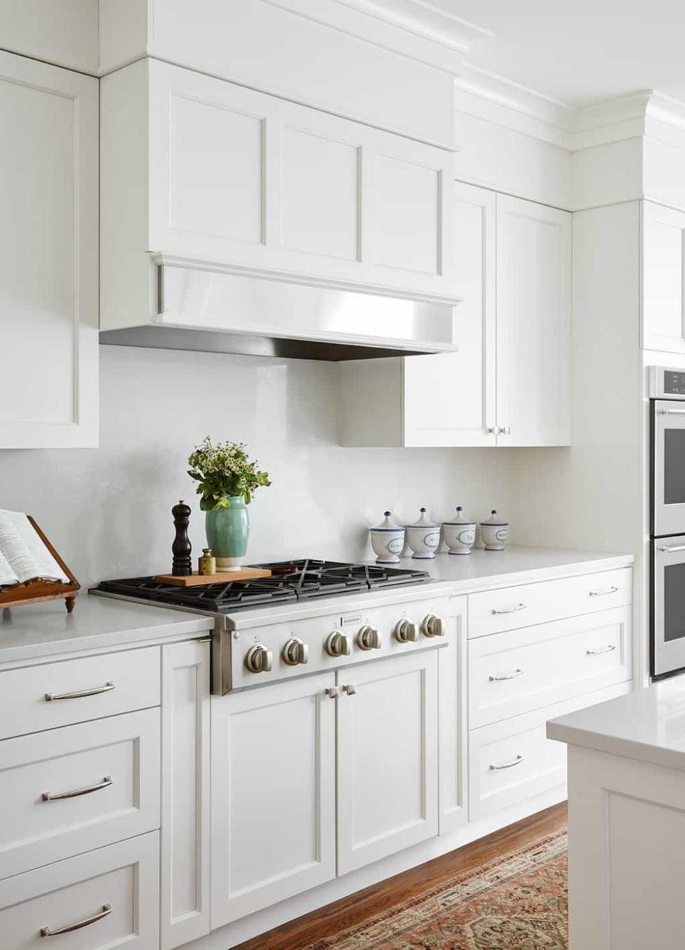 Modern White Kitchen Design Ideas Centered By Design White Modern Kitchen Kitchen Soffit White Kitchen Appliances