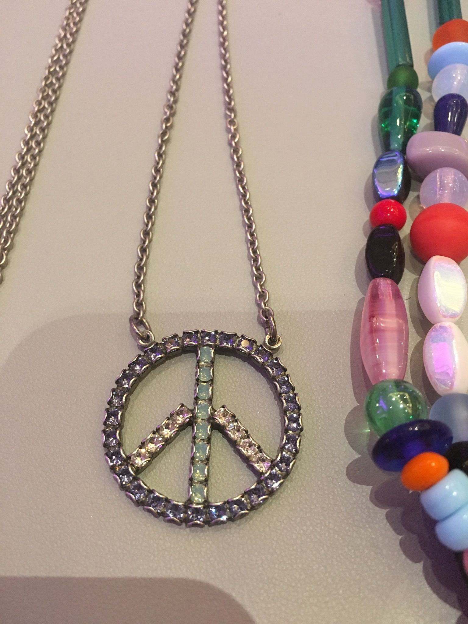 Sabika look necklace - A Funky Fresh Take On The Iconic Peace Sign By Sabika Find This And