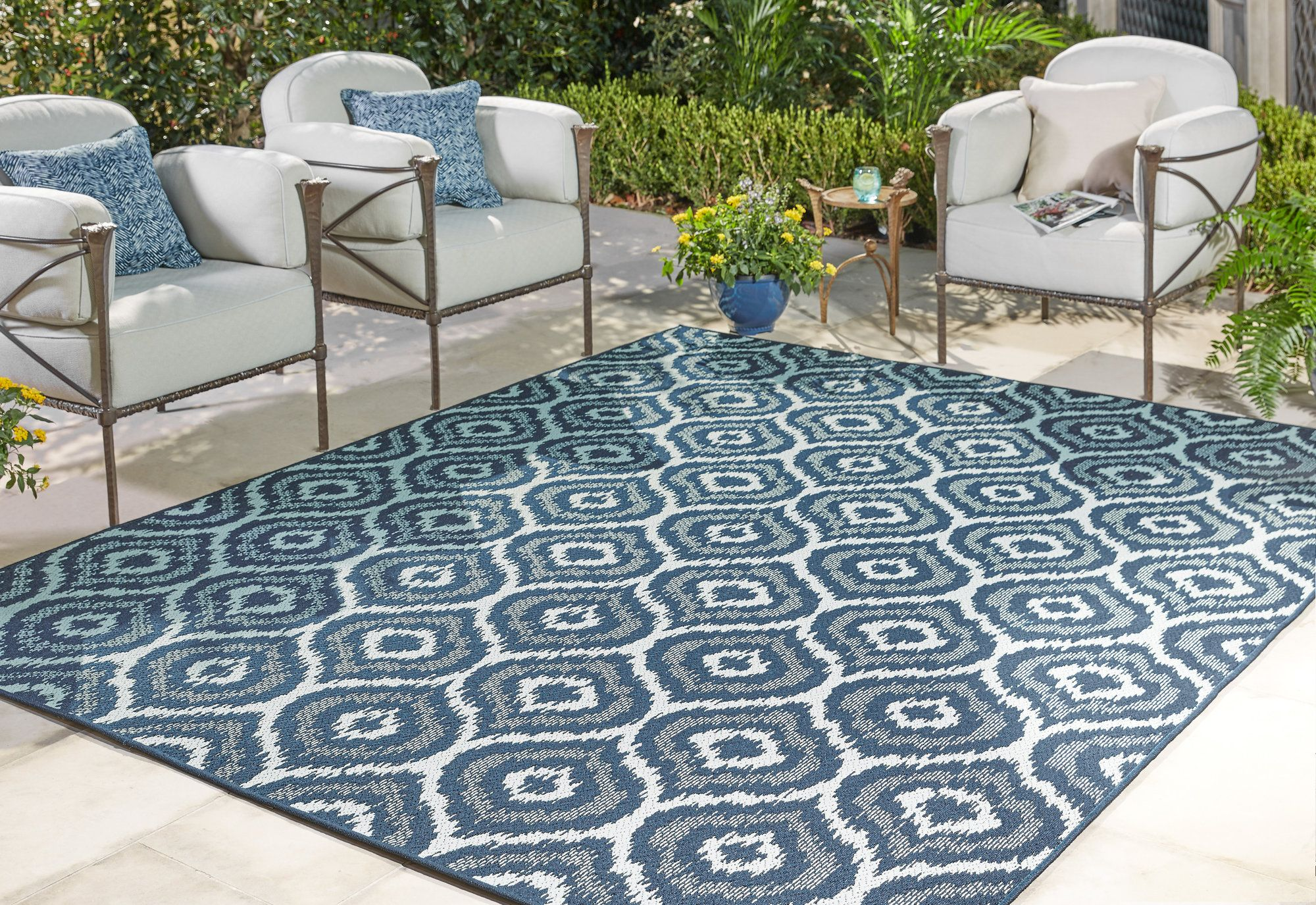 Aker Black Indooroutdoor Area Rug