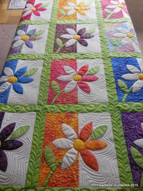 Off The Machine Today Quilts Flower Quilts Applique