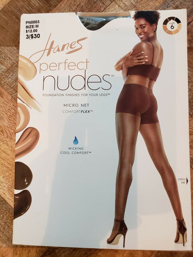 0af2b50e21 Hanes Perfect Nudes Sheer Micro Net Girl Short Tummy Control Hosiery Nude 6  M Sheer Micro Net