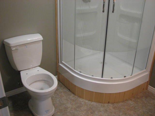 Lighting Basement Washroom Stairs: Install The Saniflo Toilet