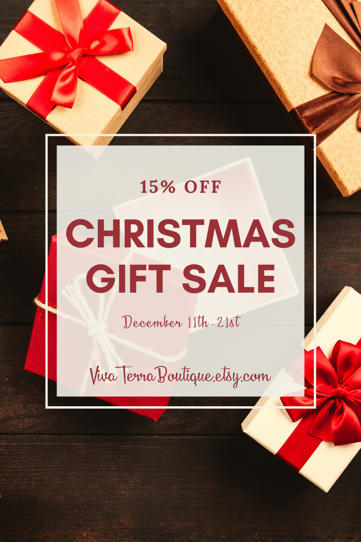 Join Us December 15th 21st For Our Christmas Gift Sale Christmas Gift Sale Accessory Gift Unique Items Products