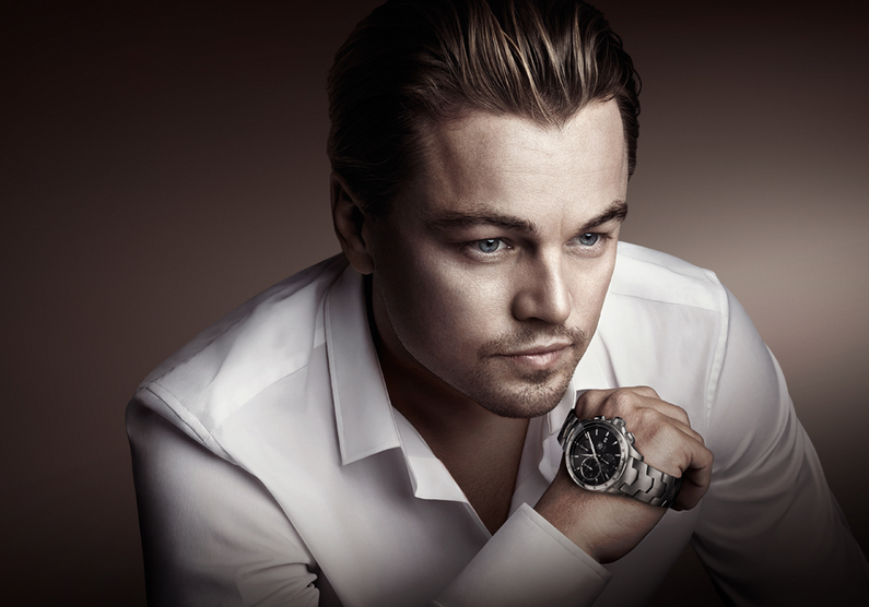Leonardo dicaprio and tag heuer carrera s aquaracer watch a gorgeous men 39 s luxury watch men for Celebrity watches male