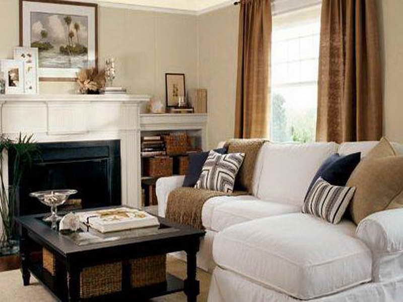 Charcoal Blue Pillows Complement The Designed Neutral Living Room With Dark Accents