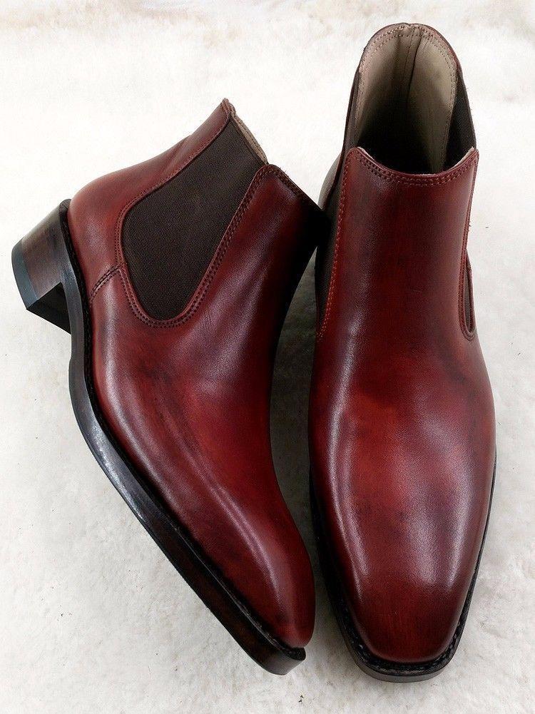 a39c807adbe Handmade Burgundy Chelsea Boot