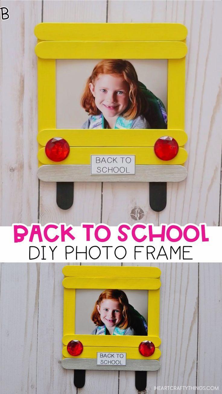 Schätzen Sie den ersten Schultag mit diesem süßen DIY-Back-to-School-Foto #backtoschool