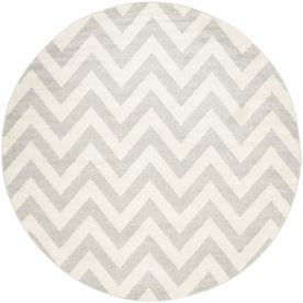 Safavieh Amherst Gray/Beige Round Indoor/Outdoor Machine-Made Moroccan Area Rug (Common: 9 X 9; Actual: 9-Ft W X 9-Ft L