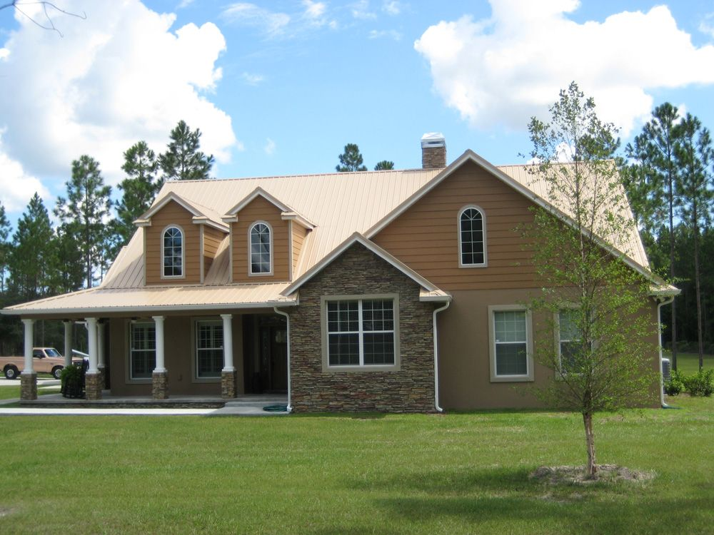 Best Tan Metal Roofing Home Exterior Makeover Pinterest 640 x 480