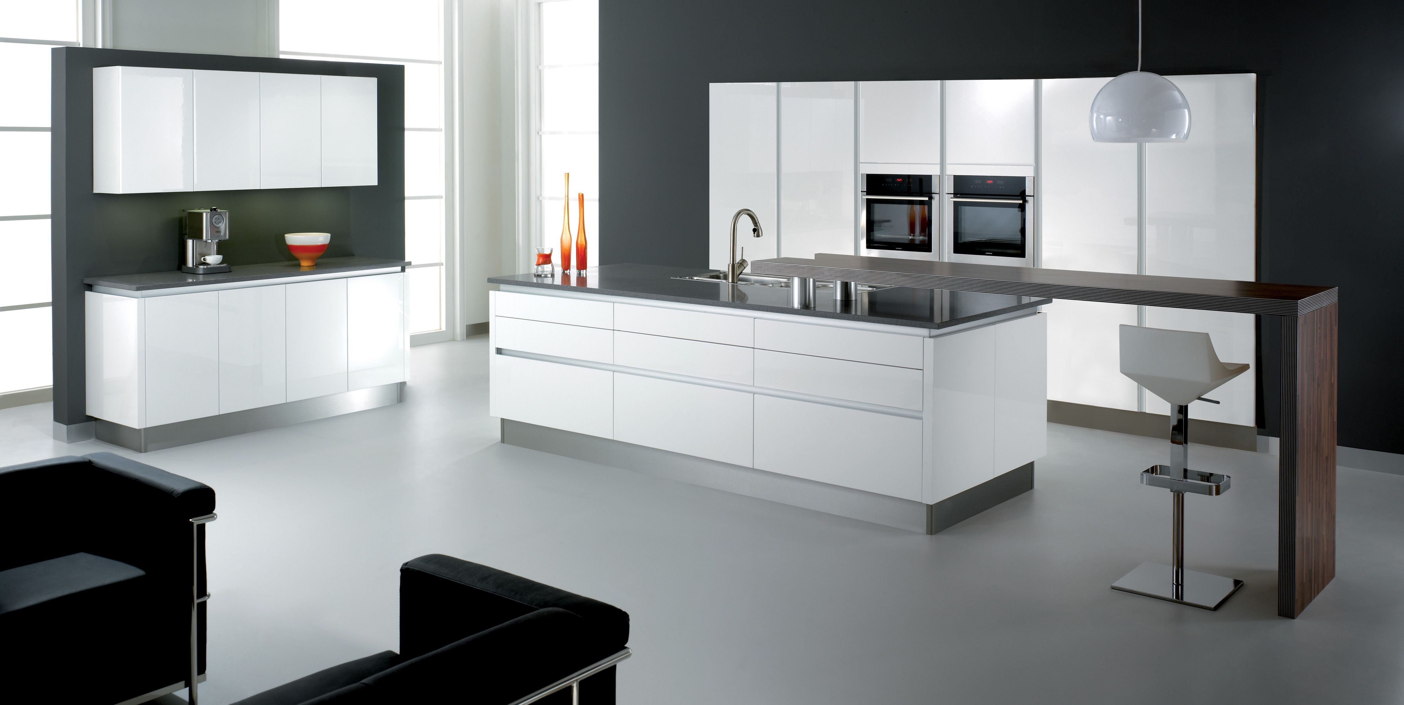 wren living handleless white gloss kitchen home kitchen
