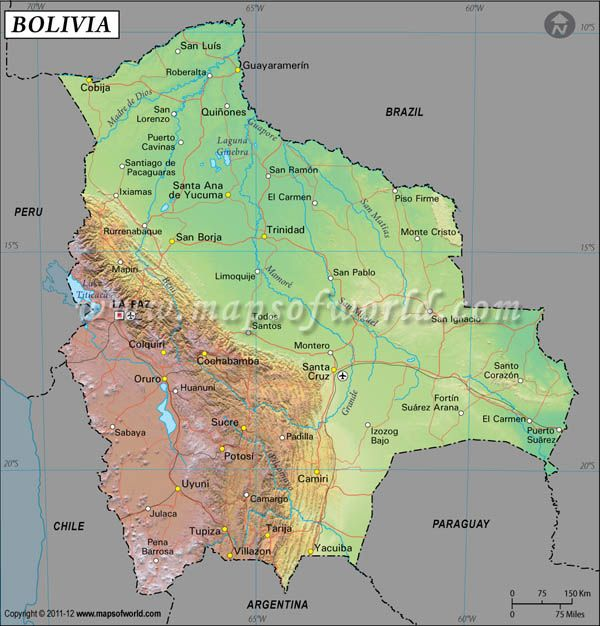 Pin by Mapsofworld on Latitude Longitude Maps Pinterest Bolivia