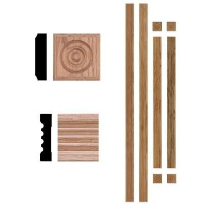 House of Fara 3/4 in. x 3 in. Window Trim Casing Set (Up to 4 ft. x 6 ft. Opening)