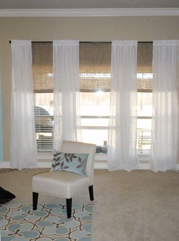 triple window curtains long window treatment ideas door drapery