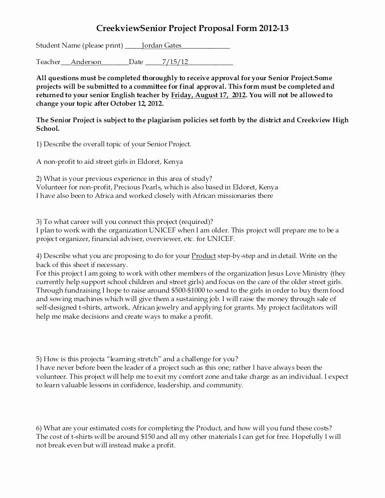 Non Profit Proposal Template In 2020 Proposal Templates Project