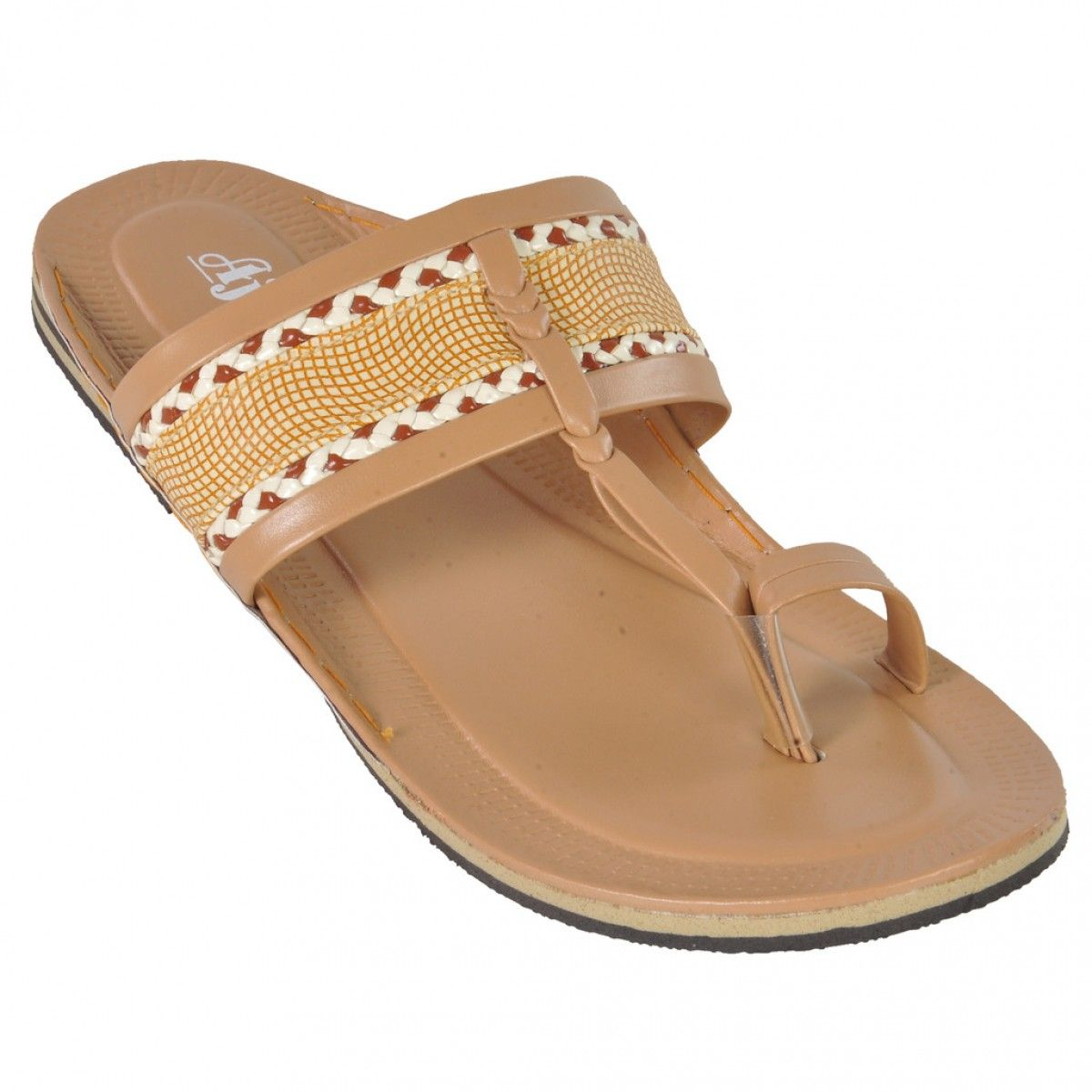 Ajanta Beige Men Sandals