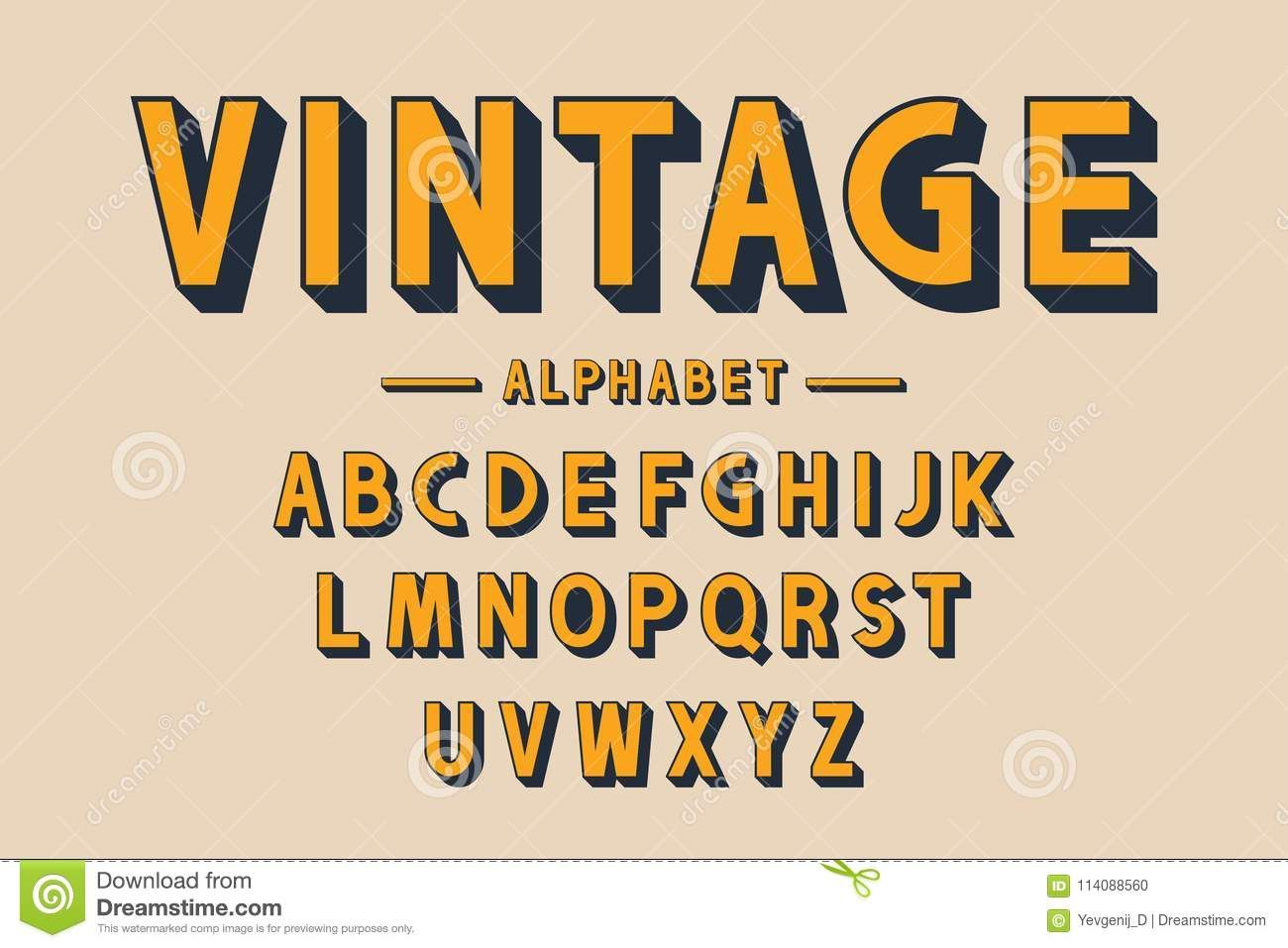 Retro Bold Font And Alphabet Strong Letters With Long Shadows In Vintage Style Retro Typography Retro Typography Vintage Fonts Alphabet Typography Alphabet