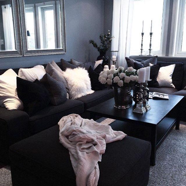 blk/white & gray living room @kortenstein | home decor diy