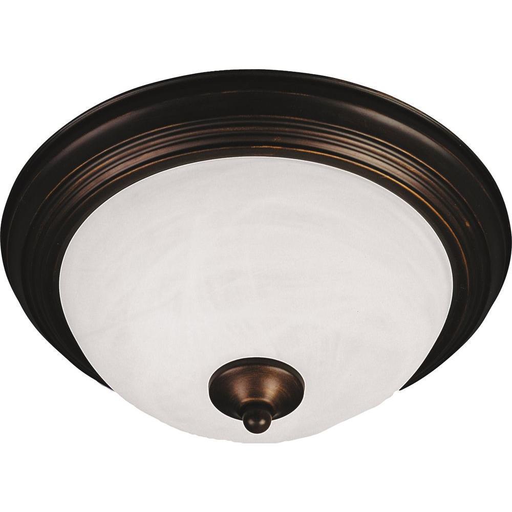 Maxim Lighting Essentials 3 Light Oil Rubbed Bronze Flush Mount