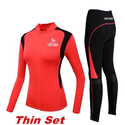Women s Winter Cycling Set Long Sleeve Thermal Fleece Cycling Jersey MTB Cycle  Clothing Bike Clothes Bicycle Cycling Woman Kit e4030f69d