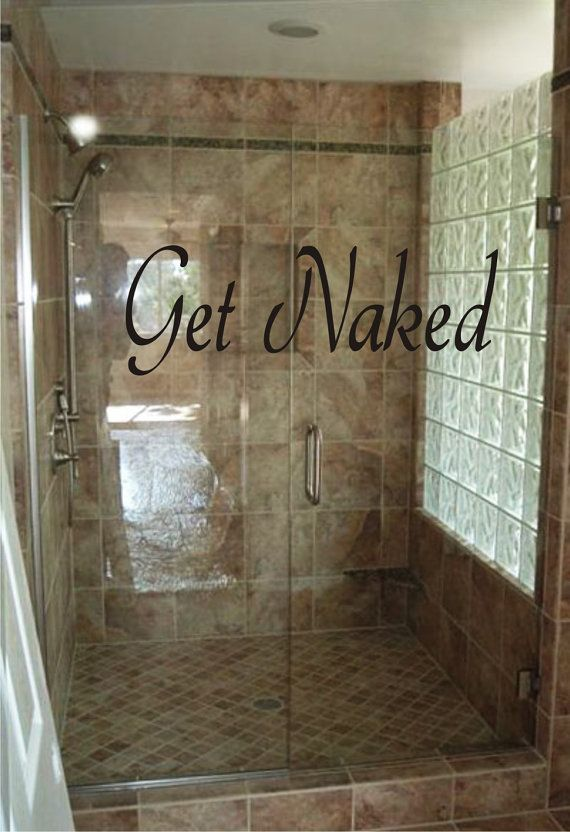 Vinyl Wall Art Get Naked Bathoom Decal | Bathroom Wall Decal | Vinyl ...