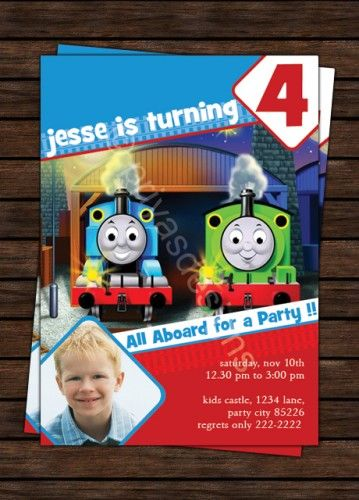 THOMAS THE TANK ENGINE TRAIN Birthday Party Invitation DIGITAL