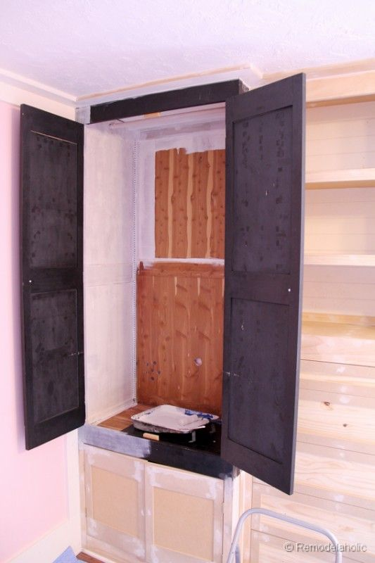 Remodelaholic Built In Closet Hack Bedroom Built In Wardrobe Build A Closet Bulkhead Bedroom