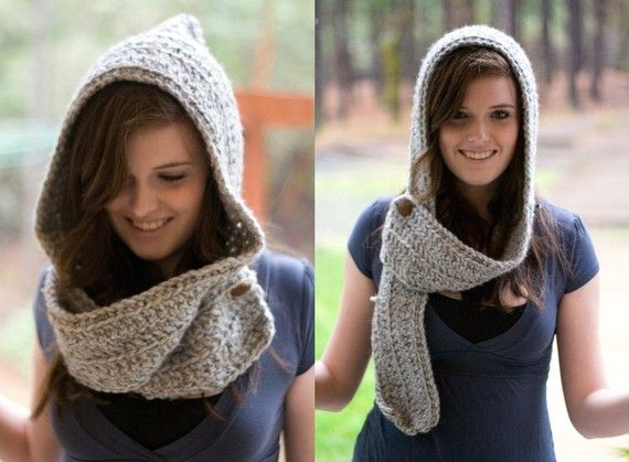 scarf + hood = scoodie - I may be making these for the coworkers soon....... :)