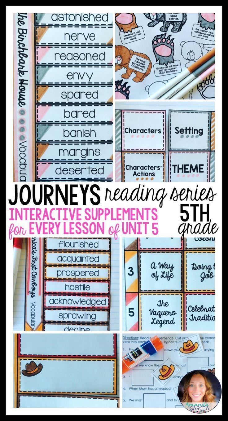 Journeys Grade 5 Unit 5 BUNDLE: Supplemental Materials with ...