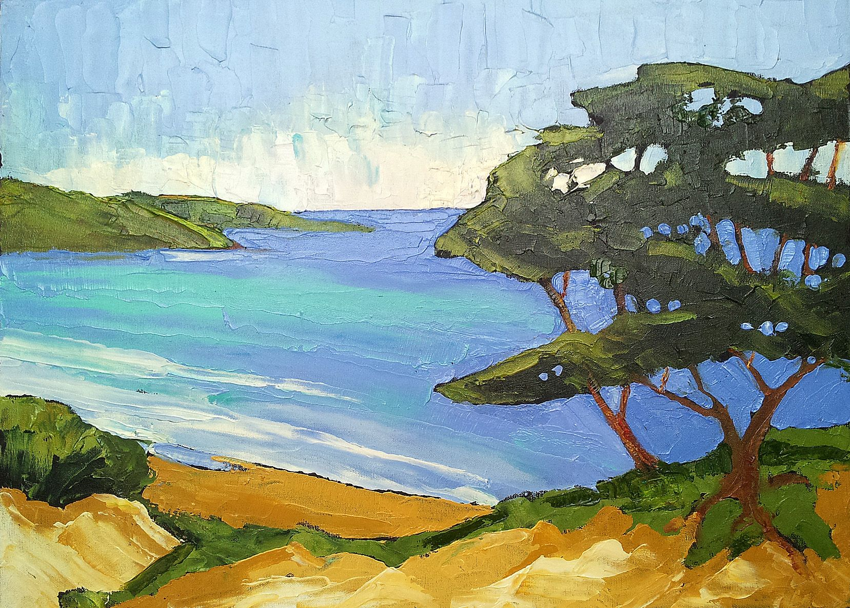 California Lynnefrenchdesigns Seascape Paintings Seascape Art Landscape Paintings